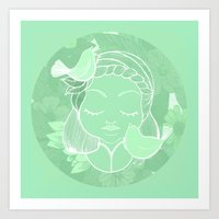 namaste Art Prints featuring Namaste by Camila Fernandez