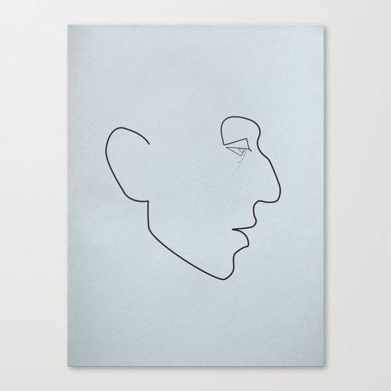 One line Serge Gainsbourg Canvas Print