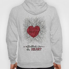 stabbed in the heart Hoody
