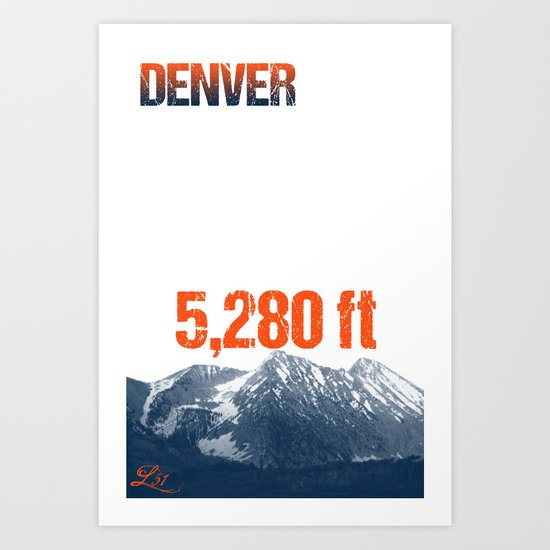 Cities Of America: Denver Art Print