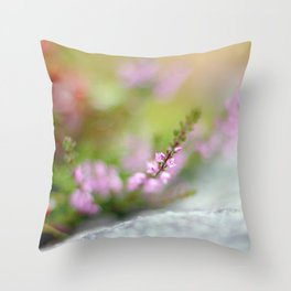 HEATHER AND LIGHT Throw Pillow