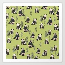 Pandas! Art Print