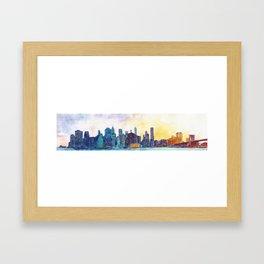 NYC panorama Framed Art Print