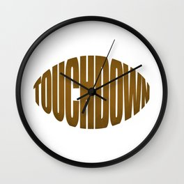 Touchdown Wall Clock