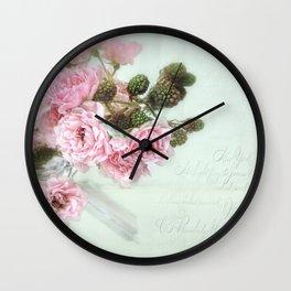 roses & berries  Wall Clock