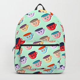 Cute smiling mugs pattern Backpack