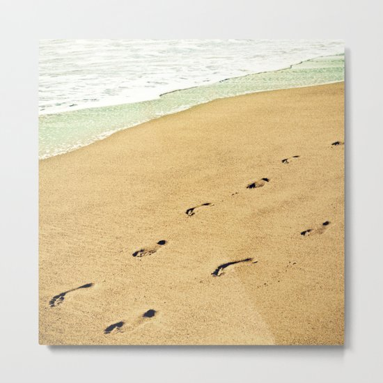 Footprints Metal Print