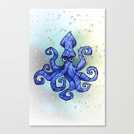 Hipster Cephalopod Canvas Print