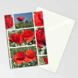 Poppies Collage Stationery Cards