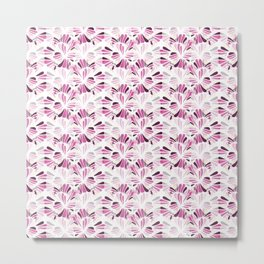 Pink Tone Optical Illusion Whirl Pattern Concept Art Metal Print