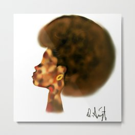 Woman with the Fro Metal Print