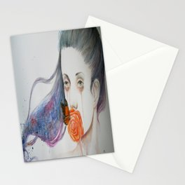 Fear of falling in love Stationery Cards