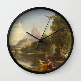 Thomas Cole The Voyage Of Life Youth 1842 Wall Clock