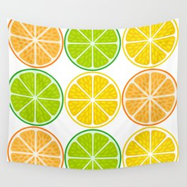 Citrus fruit slices Wall Tapestry