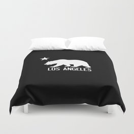 Los Angeles and California Bear Duvet Cover
