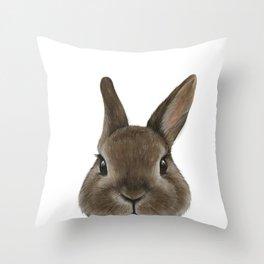 Netherland Dwarf rabbit illustration original painting print Throw Pillow