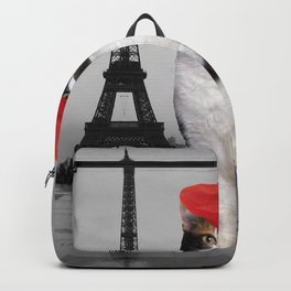 French Cat in Paris Backpack