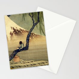 Katsushika Hokusai Boy Viewing Mount Fuji Stationery Cards