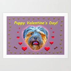 Puppy Valentine's Day! Art Print