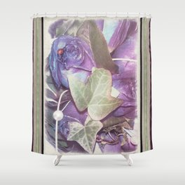Ultraviolet Bouquet Shower Curtain