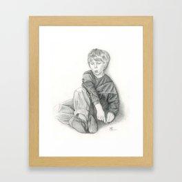 Whistling Framed Art Print