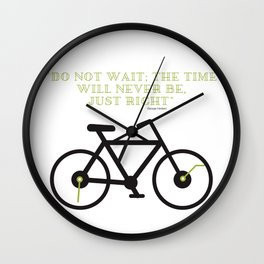 "JUST do it :) ""don't wait"" special design Wall Clock"