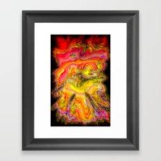 Psychedelic vision Framed Art Print