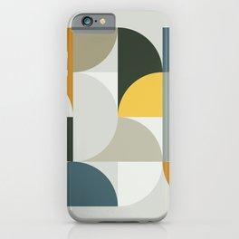 Mid Century Geometric 13 iPhone Case