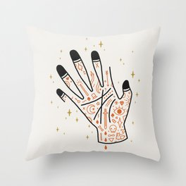Sleight of Hand Throw Pillow