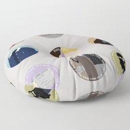 PHILKAS: A MINIMALIST LOVE STORY Floor Pillow