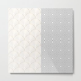 Geometric Bicolore Luxury Metal Print