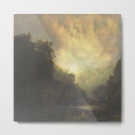 River And Mist Metal Print
