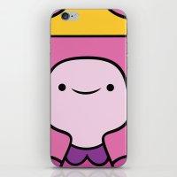princess bubblegum iPhone & iPod Skins featuring Princess Bubblegum by OverClocked