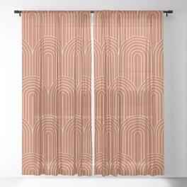 Art Deco Arch Pattern XI Sheer Curtain