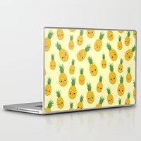 pineapples Laptop & iPad Skins featuring Pineapples by Sara Showalter