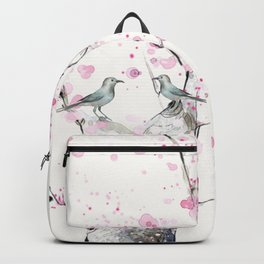 Cherry Blossoms And Birds Backpack