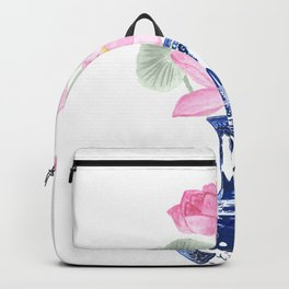 Lotos flower painting Backpack
