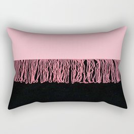 piNk FriNgInG Rectangular Pillow