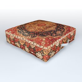 Seley 16th Century Antique Persian Carpet Print Outdoor Floor Cushion