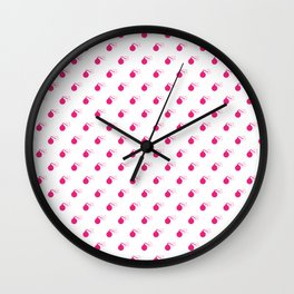 HOT PINK BOMB DIGGITYS ALL OVER LARGE Wall Clock
