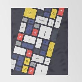 LOL, Mondrian – White / Blue / Yellow / Red Abstract Print Throw Blanket