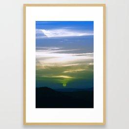 A Red sunset in infra red Framed Art Print