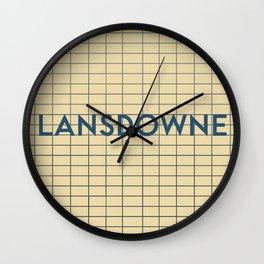 LANSDOWNE   Subway Station Wall Clock