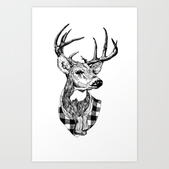 Mr Deer Art Print
