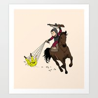 planet of the apes Art Prints featuring Curious George/Planet of the Apes by The Cracked Dispensary