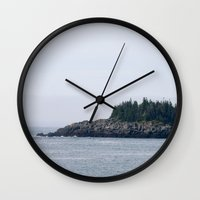 maine Wall Clocks featuring Maine by katharine stackhouse