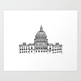 Around the World - Washington DC Art Print