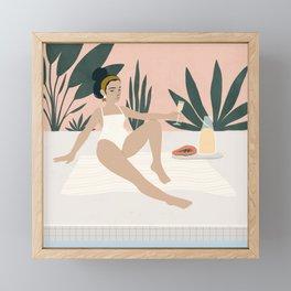 poolside Framed Mini Art Print