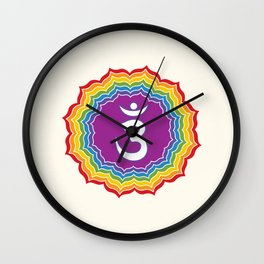 Third Eye chakra Wall Clock