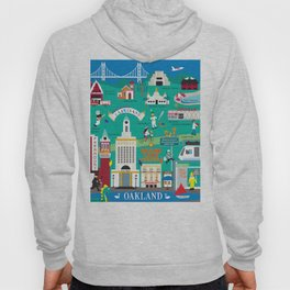 Oakland, California - Collage Illustration by Loose Petals Hoody